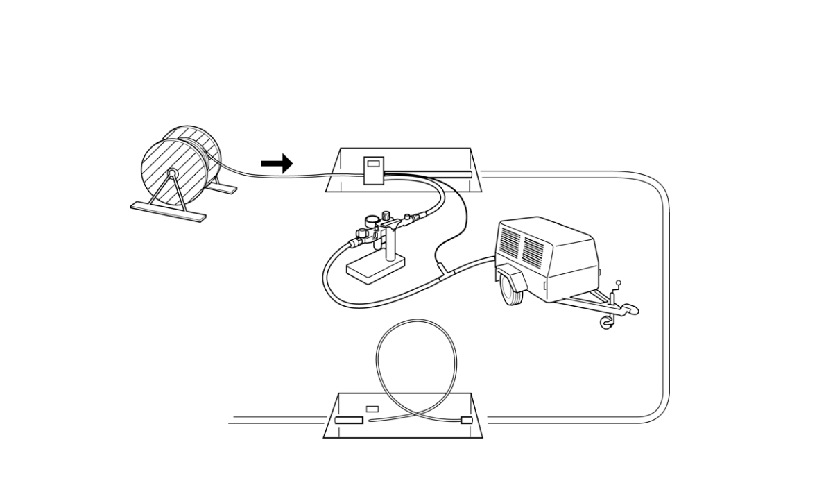 Schematic of Blown Fiber System Components